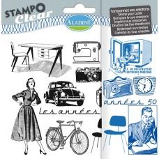Набор прозрачных штампиков для оттисков В 1950-е