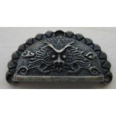 Декоративная ручка для шкатулок, 70х35 мм, бронза, 2 шт. в упак.