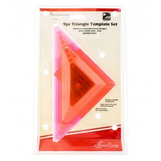 Набор из лекал - треугольников  для пэчворка, 9 шт