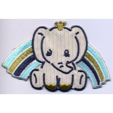 Термоаппликация HKM Слонёнок и голубая радуга, 1 шт