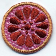 Термоаппликация HKM Цветок розовый с коричневым, 1 шт