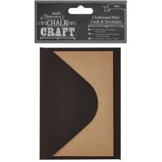 Набор заготовок для открыток с конвертами мини Напиши мелом - Kraft