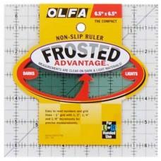 Линейка для квилтинга Frosted, градация в дюймах, квадрат 6 х 6