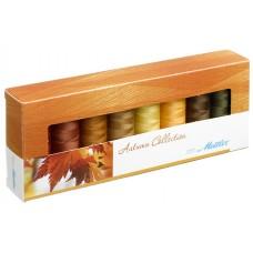 Набор с нитками Seralon  Оттенки Осени в подарочной упаковке, 8 катушек