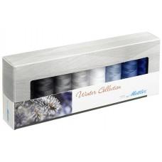 Набор с нитками Seralon  Оттенки Зимы в подарочной упаковке, 8 катушек