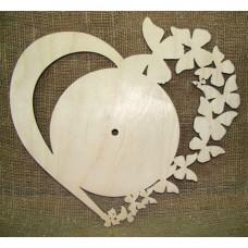 Основа под часы Сердце бабочки, 350 x 350 мм
