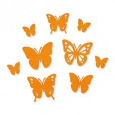 Набор самоклеящихся декоративных элементов Бабочки из фетра, 9 шт