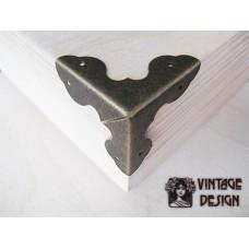 Декоративный уголок для шкатулок, 33*33 мм, бронза, (упак.8 шт.)
