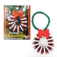 Набор пуговиц для создания фигурки Рождественский венок