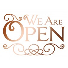 Трафарет We  Are Open