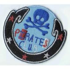 Термоаппликация HKM Эмблема пиратский клуб круглая, 1 шт