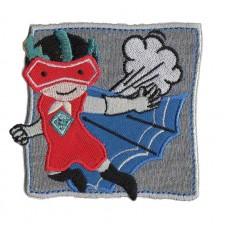 Термоаппликация HKM Супергерой в синей накидке