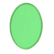 Термоаппликация HKM Овал неоновый зеленый, 2 шт