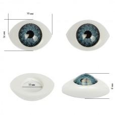 Глаза круглые выпуклые цветные TBY 19мм цв. серый упак 200шт.