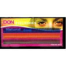 Реснички для кукол DON  КЛ.24667 цв.ассорти  №М-003  13мм L=9,5 см  уп.3 шт.