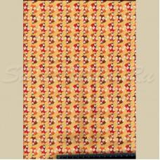 Хлопковая ткань маленькие лисички